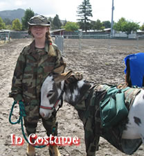 In Costume with Miniature Donkeys