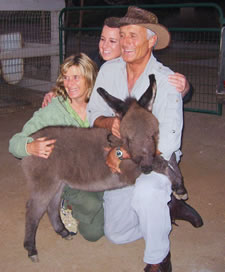 Miniature Donkey with Jack Hanna